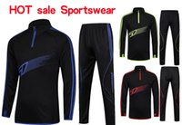 Wholesale Hot sale Men Sport Running Football Set Long Jacket Pants Suit Kids Soccer Training Skinny Leg Pants Pantalon warm ups Tracksuits Sportswear