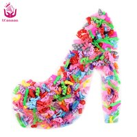best baby doll dress - 10 Pair Fashion Colorful Accessories Shoes Heels Sandals For Babie Clothes Dress Doll Best Gift Girl Baby Toys