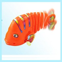 Wholesale The cochain spiral spring fish toy tail may swing Ultra lovable spiral spring fish
