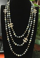 Wholesale F Fashion Jewelry NEW Top Long mm Colourful sea shell pearl necklace quot