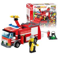 best fire truck - J310 Educational Toys New arrival Fire Truck Building Blocks Small Particles DIY Action Figure Toys Best Gift For Kid