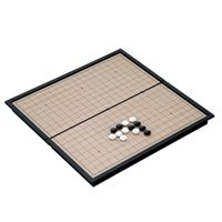 Wholesale Chinese old board game weiqi checkers folding table magnetic Go chess set magnetic chess game toy gifts plastic go game