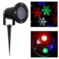 ac moving - LED Christmas Lights W LED Moving Snowflake Spotlight Dynamic Landscape Projector Party Lighting for Holiday Garden