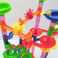 Wholesale 105pcs BOHS Marble Run on Labyrinth Track Game Model Building Toy marble track model building