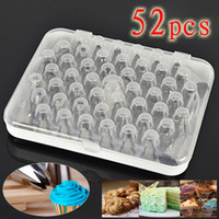Wholesale 52pcs DIY Icing Piping Nozzles Pastry Tips Bag Cookie Sugarcraft Cake Decorating Supplies Pastry Tools Set
