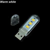 USB Lamps   10Pcs New Mini 3 LEDs 5730 SMD LED USB lamp Book lights Camping Bulb Nightlight For PC Laptops Notebook Reading Night light