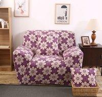 Wholesale Elastic sofa cover spandex fabric sofa cover stretch sofa slipcover Purple Tender dropship