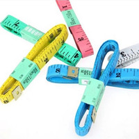 Wholesale 150CM PVC Material Sewing Machine Body Measuring Tape Cloth Sewing Ruler And Tailor Of Tape Measure Inch Body Tape CCA1758