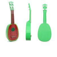 baby guitar toy - Guitar Toy for kids Musical Instrument Mini Four String Guitar Simulation Fruit Guitar Baby Musical Educational Toys Plastic