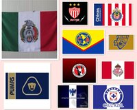 Wholesale by DHL Mexico football club America football team flags Polyester cm
