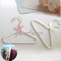 Wholesale Plastic White Pearl Clothes Hangers for Baby Cloth Pet Cloth Kids Cloth n Clothing Store Supplies