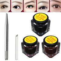 Wholesale Pro Eyebrow Tattoo Microblading Pen Set Manual Pen Needles Eyebrow Paste For Permanent Makeup Tattoo Eyebrow