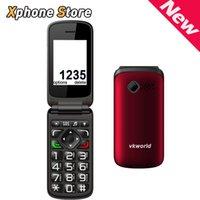 analog speaker phone - Original VKworld Z2 Flip Elder People Mobile Phone Support GSM Network Dual SIM Loud Speaker FM Bluetooth Torch