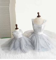 Wholesale In Stock Ball Gown Lavender Flower Girl Dresses Sequin Holy Communion Dresses Girls Princess Pageant Dresses Lovely Kids Evening Gowns16243