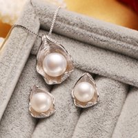 Wholesale ift box party favors FENASY pearl jewelry set for women natural pearl retro sets sterling silver jewelry girl wedding engagement gi