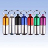 aluminum cans crafts - Aluminum Alloy Powder Cans Mini Key Ring Bottle Emergency Bottle Craft Gift