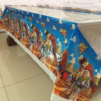 Wholesale cm Toy story Plastic Table Cover for Cartoon kids happy birthday party plastic tablecloth supplies disposable