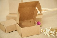 Wholesale cm Brown Gift Packaging Kraft Paper Box For Jewelry Wedding Candy Crafts Cake Handmade Soap Packing boxes