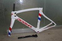 Wholesale White special Order Wiggins road carbon fiber bike Frame Carbon Fiber Frameset and fork seatpost headset clamp