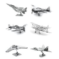 air force children - Hot Sale D DIY Metal Puzzle Toy Aircraft Model For Child Adult Air Force Equipment Weapons Model Best Christmas Gift Kids Toys