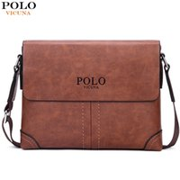 antique leather trunk - POLO VICUNA Retro Antique Casual Business Frosted Leather Mens Shoulder Bag Vintage Fashion Leather Crossbody Bag Brand Men Bag