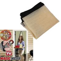Wholesale Practical Magnetic Mesh Gauze Mosquito Fly Bug Screen Window Door Curtain Drop Shipping Sheer Curtains