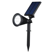 Garden automatic light sensor - Solar Spotlights in Waterproof Adjustable LED Wall Landscape Lights Automatic On Off Sensor Lamp for Driveway Yard Lawn Garden