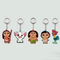 Metal baby toy keys - Movie Series Princess Moana Principessa Baby Maui Cute Cartoon Keychain Key ring Toy Figures For Kids Gift