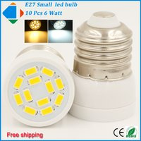 Wholesale 10x led bulb lamp mini E27 W small led spots light smd5730 leds ac110v v high brightness home lighting