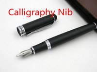 abrasive products - Black Abrasive products Silver Trim Calligraphy Nib Fountain Pen