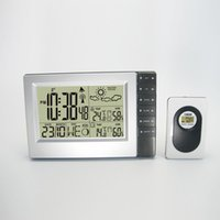 atomic homes - RF Wireless Weather Station with Home Office Digital Atomic Alarm Clock Indoor Outdoor Thermometer Humidity DYKIE