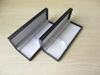 Wholesale 20pcs Business stationery gift box Plastic paper cover pen box with sliver decoration line DL_BX003
