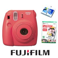 Venta al por mayor <b>Fuji Instax</b> Mini 8 Cámara Nuevo Frambuesa Roja Color + 10 FujiFilm Instax Mini 8 Blanco Mini Películas Foto Papel Ablum