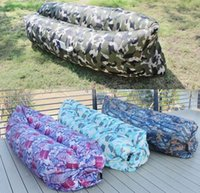 Wholesale Fashion Camouflage Fast Inflatable Air Sleeping Bag Lazy Sofa Bed Festival Camping Hiking Travel Beach Bag Bed Camping Banana Couch
