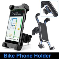 Plastic bicycle fittings - NEW Anti Slip Universal Rotating Bicycle Bike Phone Holder Handlebar Clip Stand Mount Bracket For Smart Mobile Cellphone with retail box