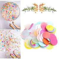 Wholesale g bag cm inch Colorful Roundness Tissue Paper Confetti For Wedding Supplies Party Table Decorations W