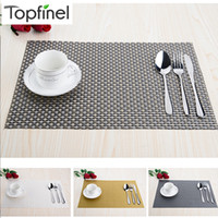 bamboo table tops - Top Finel Set of PVC Decorative Weave Vinyl Placemats for Dining Table Linen Place Mat in Kitchen Cup Wine Mat Coaster Pad