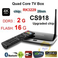 Wholesale Upgraded CS918 RK3229 G DDR3 G G Flash Quad Core CPU Support K Android TV Box WiFi XBMC Smart TV HDMI Android Mini PC