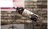 Wholesale living room European creative wine shelf retro iron ornaments fashion simple red wine bottle rack