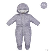 Wholesale 2016 winter cotton paded baby romper thick external wear