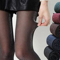 Wholesale Sexy Women shiny pantyhose New Stockings Skinny Tights Silver Glitter Shimmer Shiny Pantyhose EQB365
