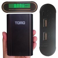 battery protective device - TOMO LCD For iPhone Samsung Smart Power Bank battery Charger Device battery case box portable Powerbank with Protective