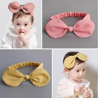 Wholesale Hot Sale New Style Headband Childred Cotton and linen children hair accessories Baby bow hair band