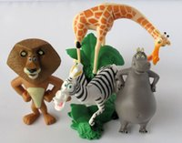 Multicolor alex toys - Madagascar Alex Marty Playset set Figure Cake Topper PVC Action Figures Toys Dolls Kids Gifts by DHL