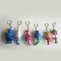 Vente en gros 30set Trolls Poppy porte-clés La Bonne Chance Trolls Figurines Figurines Collectables pour Enfants Cadeaux de Noël Livraison gratuite
