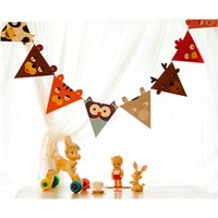 Wholesale set Animal Paper Flags Banners Baby Shower Decorations Kids Birthday Party Decor Party Supplies