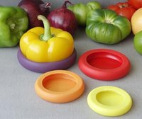 Wholesale 4Pcs set Assorted Food Huggers Silicone Caps Food Saver Food Hugger Fruit Vegetable Preservation Tool Kitchen Accessories