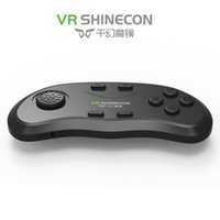 Wholesale DHL Newest Original Bluetooth Remote Controller VR Shinecon Wireless Gamepads Mouse Music Selfie D Games for phone PC TV