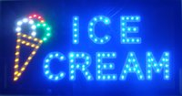 animated ice cream - New coming customerized animated led ice cream shop open sign x10 quot Led neon sign Led sign board