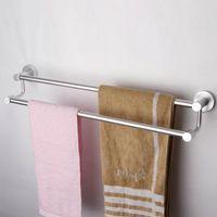 Wholesale Space Aluminum Towel Rack Bathroom Accessories double Towel Bar Holder